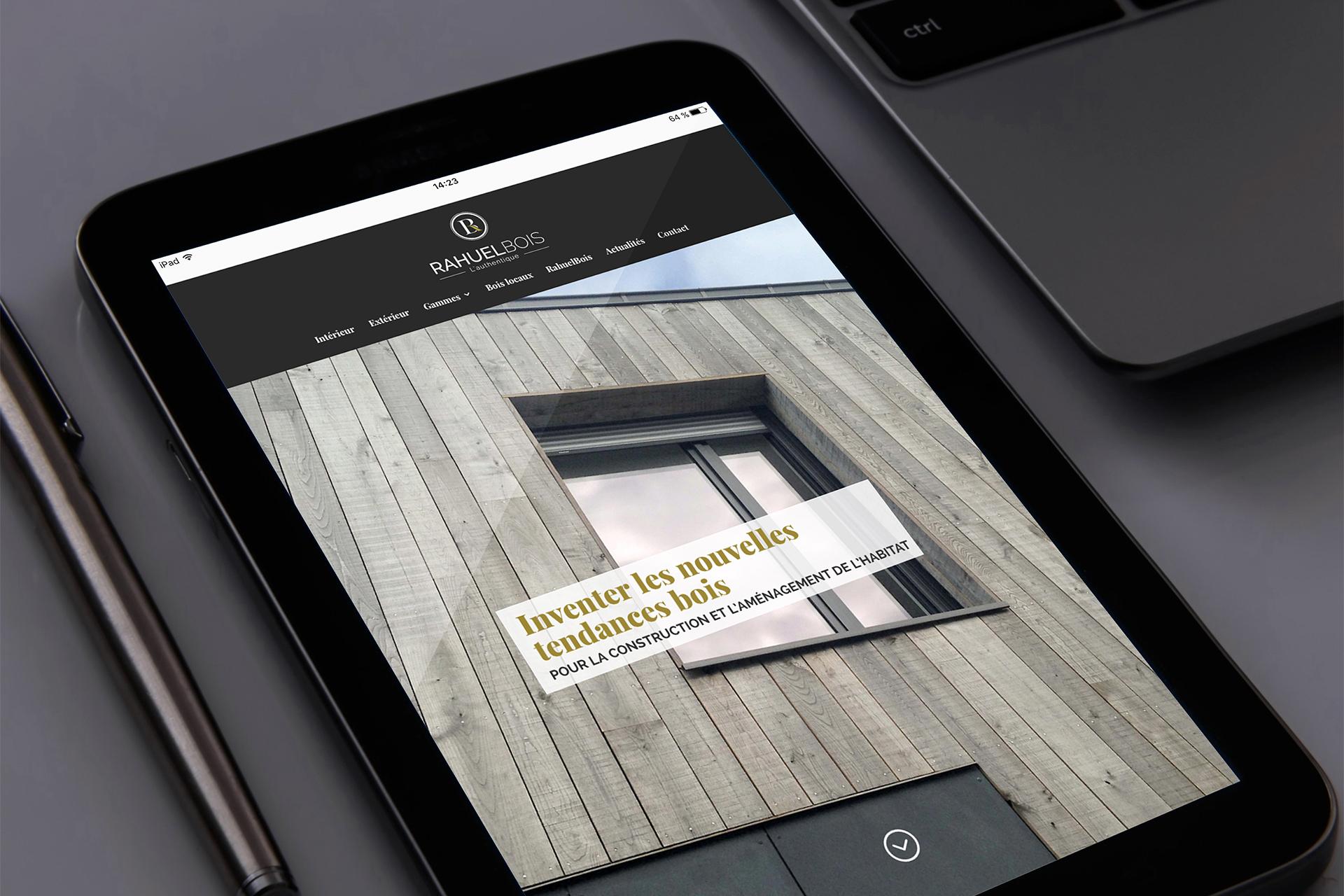 RAHEUL BOIS - refonte site internet