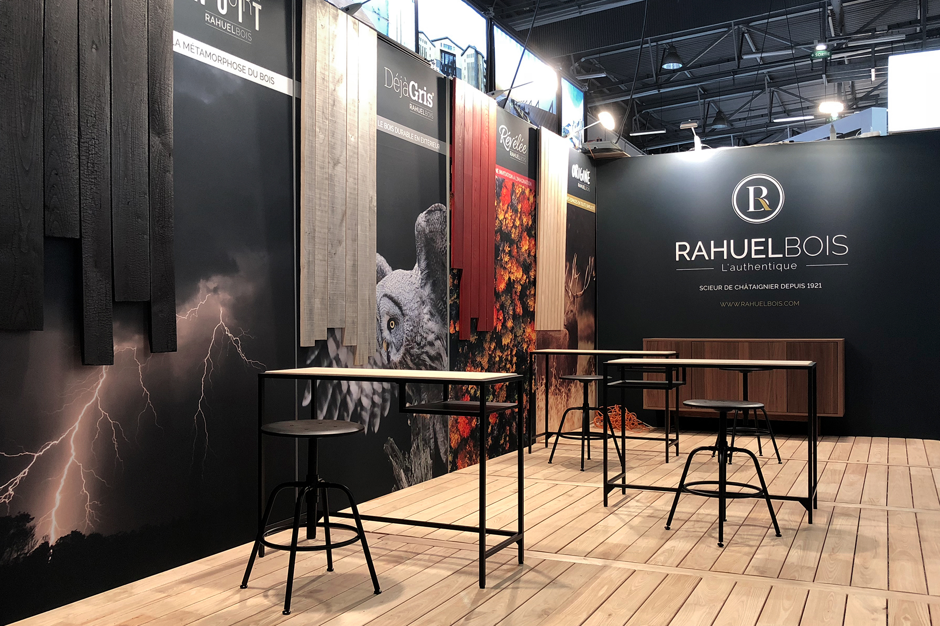 Conception stand Rahuel bois pour le carrefour international du bois 2018