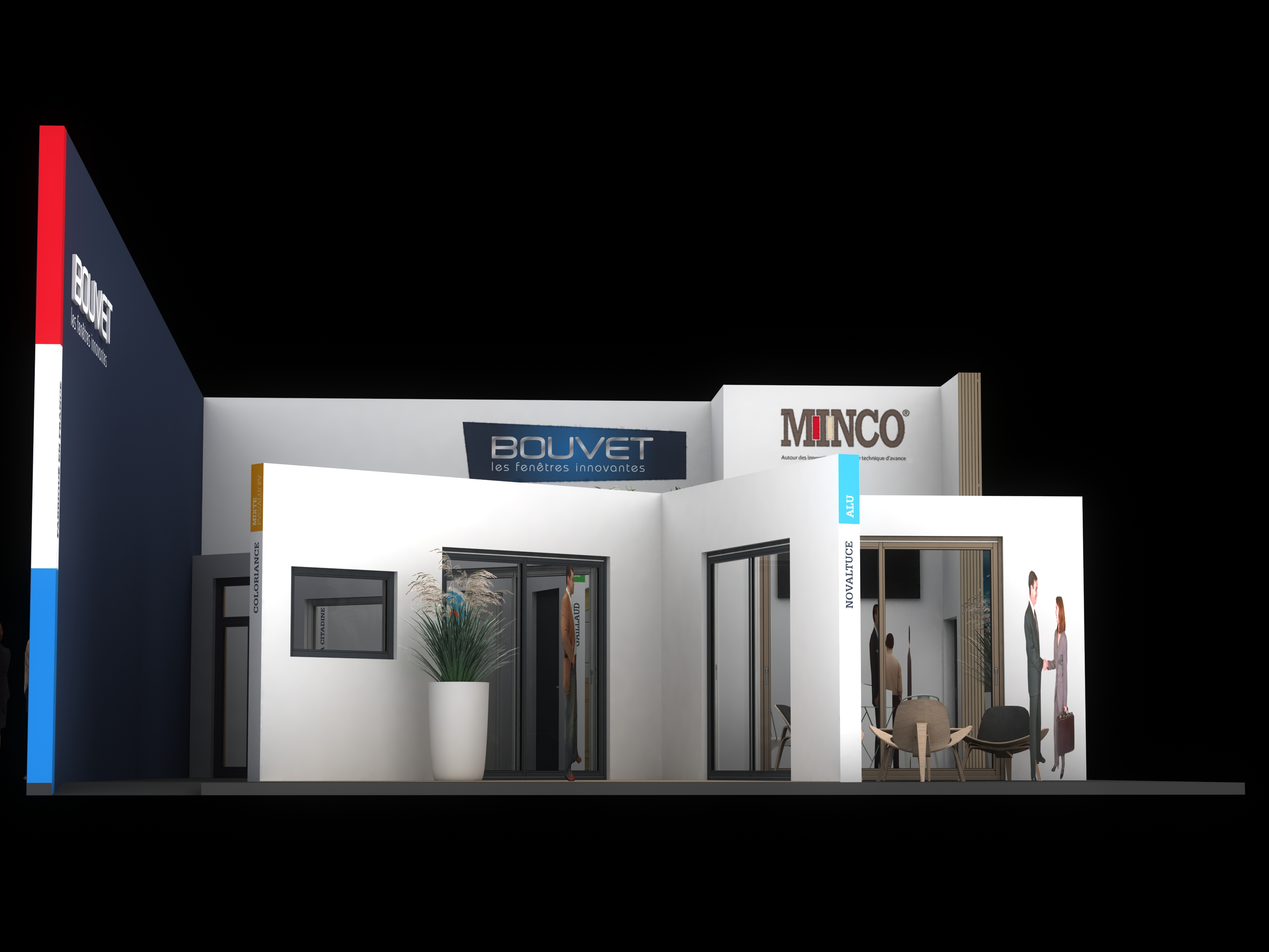 Standiste projet bouvet minco salon equip 39 baie for Menuiserie stand exposition