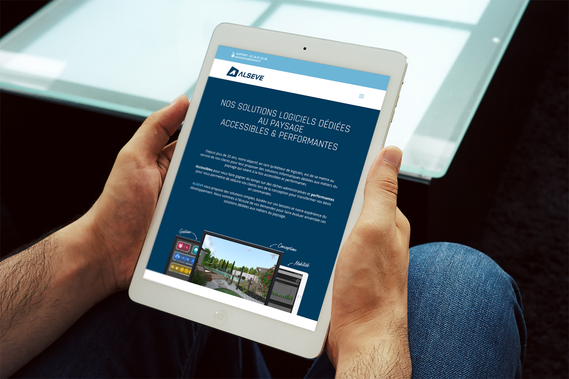 Site web responsive sur tablette