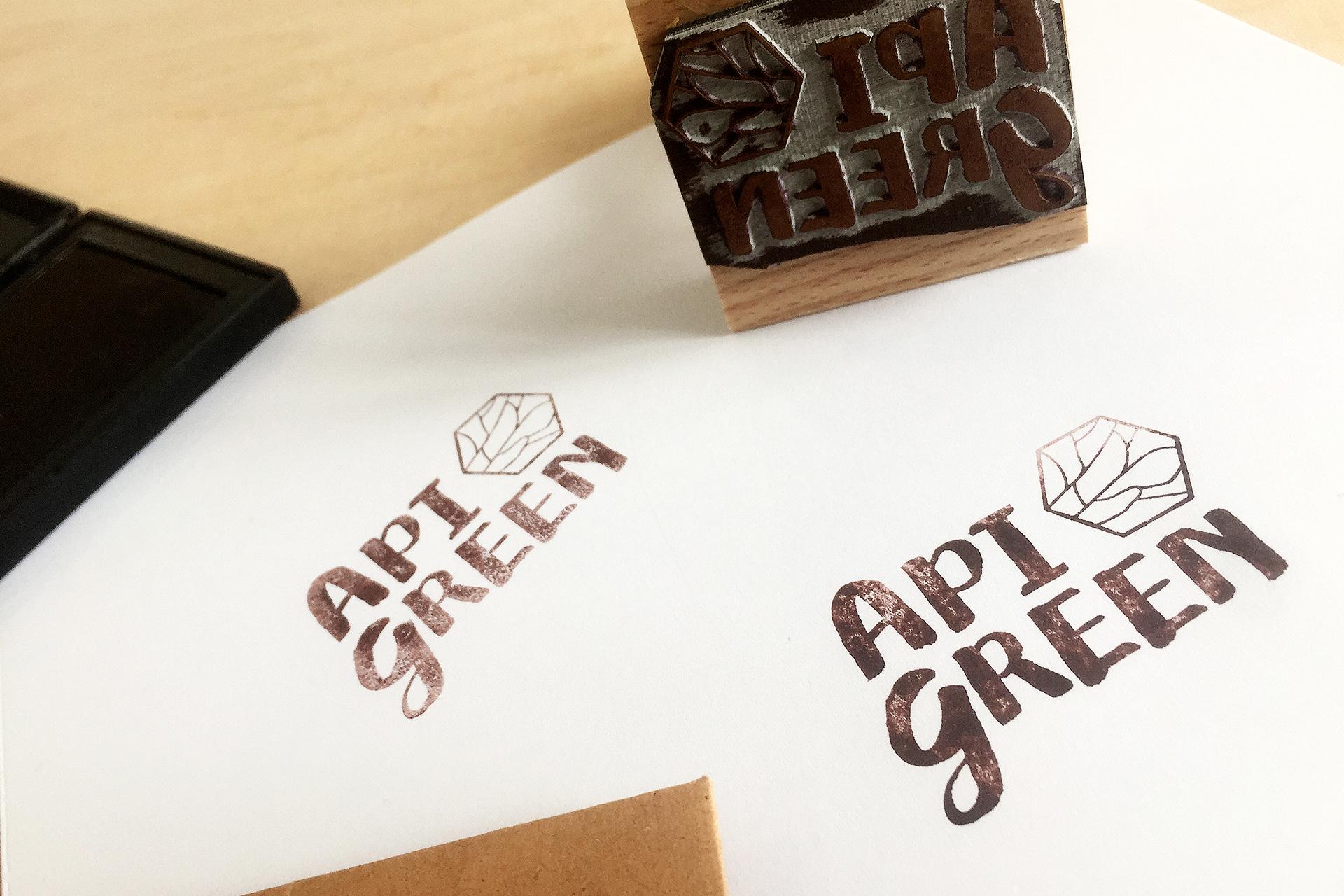 Création d'un logo pour nouvelle marque API GREEN -design packaging