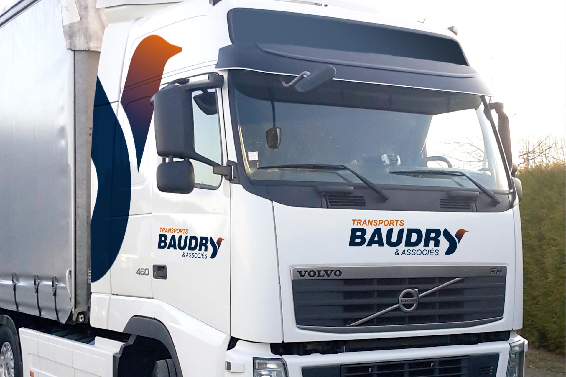 Logo et identité pour Transports Baudry et associés