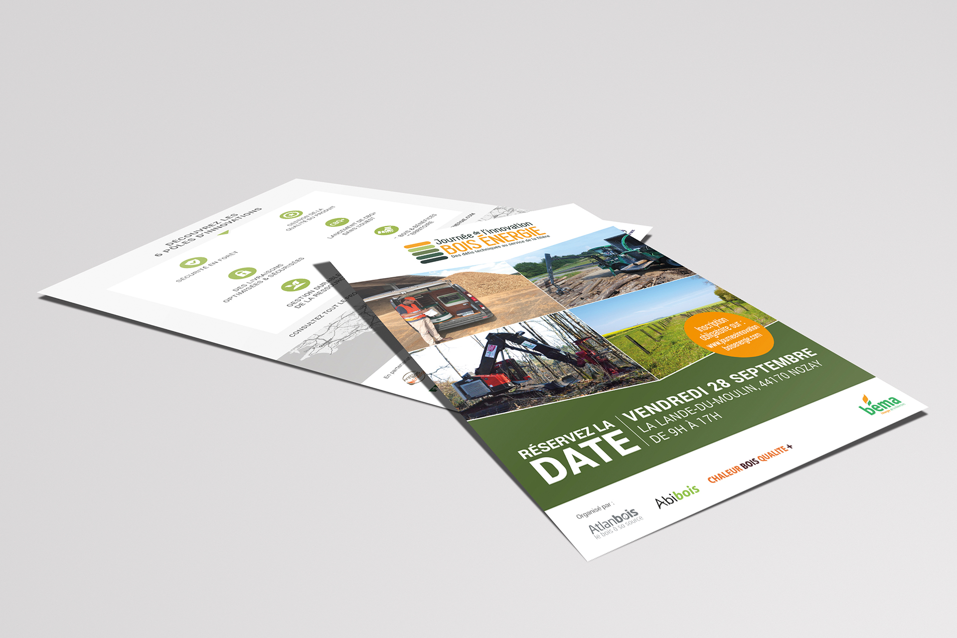 Création de flyer Journee de l'innovation Bois Energie