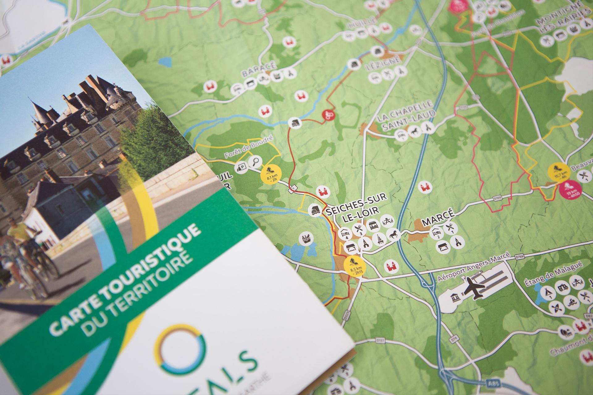 Carte du territoire - Anjou Loir & Sarthe Tourisme OTALS_communication tourisme