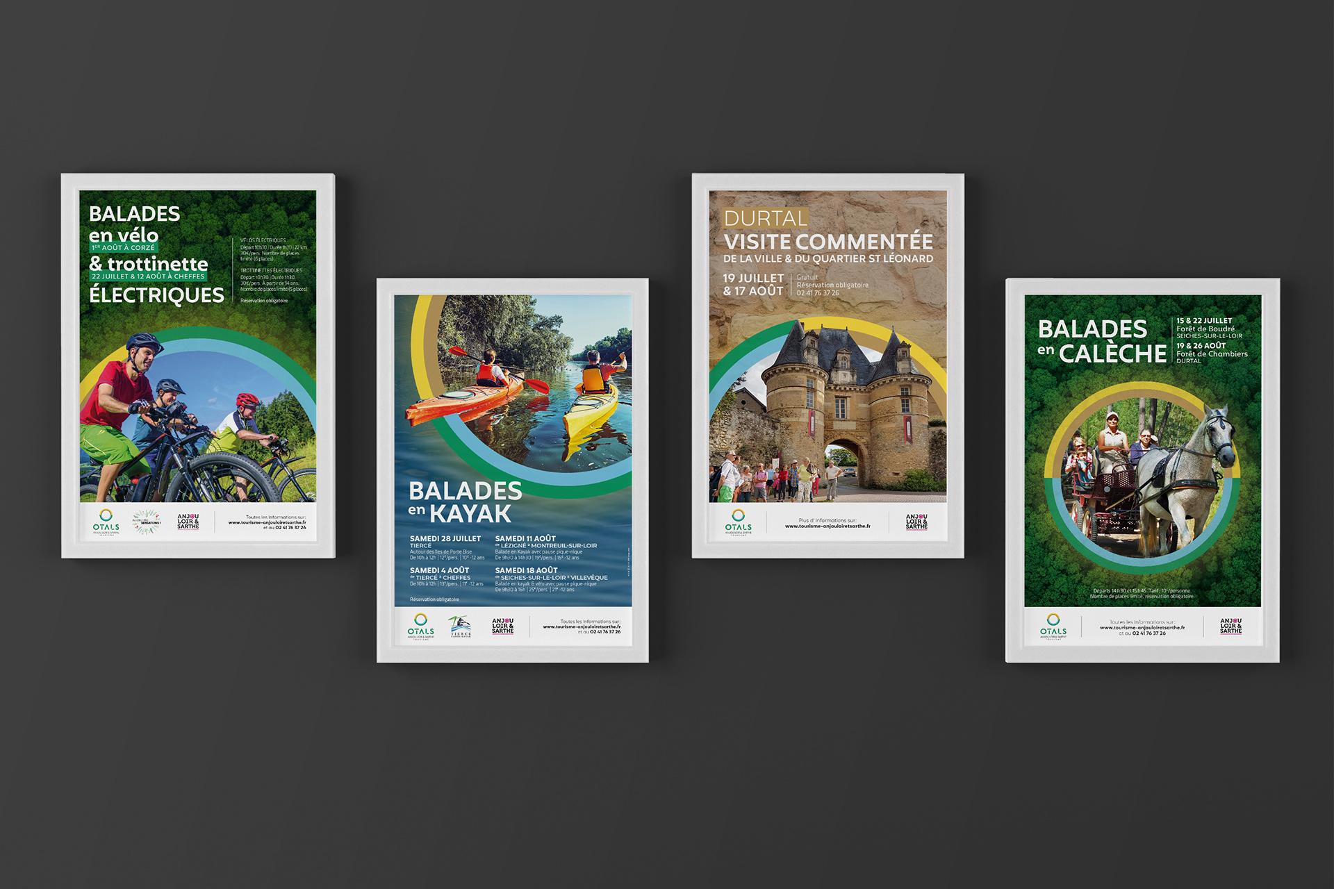 Affiches - Anjou Loir & Sarthe Tourisme OTALS_communication tourisme