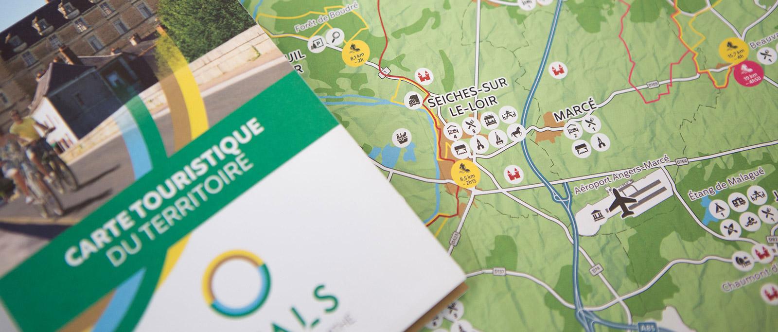Carte touristique Anjou Loir et Sarthe